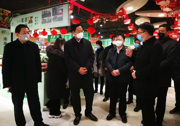 省政协主席刘伟在驻马店检查督导疫情防控工作
