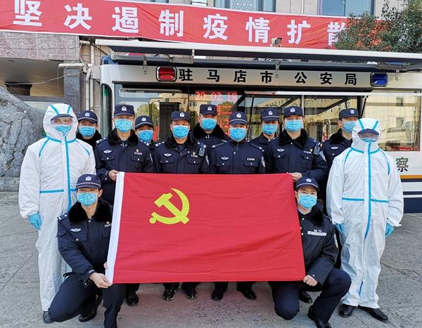 老街派出所成立党员突击队 让党旗在抗疫最前线飘扬