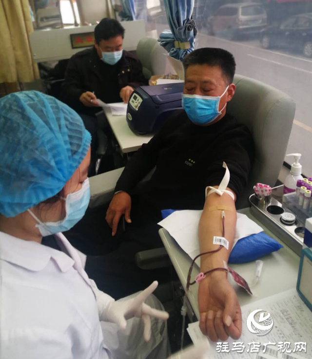 确山县邮政分公司组织开展无偿献血活动