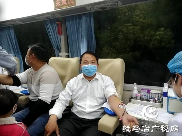 汝南县梁祝镇爱心献血共战疫情