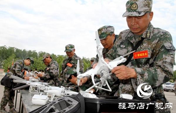 省军区考评组到驿城区检查民兵综合建设工作