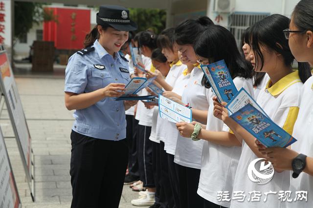 平舆县公安局组织民警开展送法进校园活动