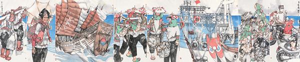 """197件美术作品描绘美丽的""""一带一路"""""""