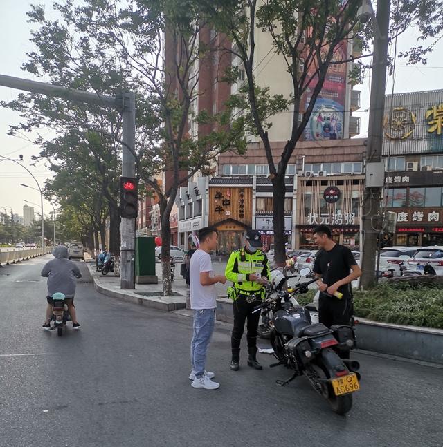 市公安局交警支队开展交通违法行为专项治理行动