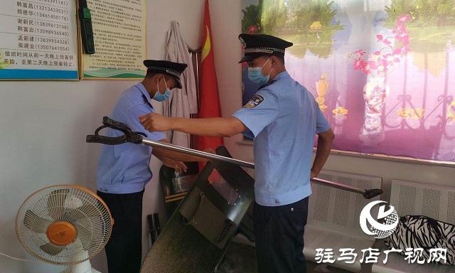 遂平县公安局嵖岈山派出所对辖区中小学校开展安全检查