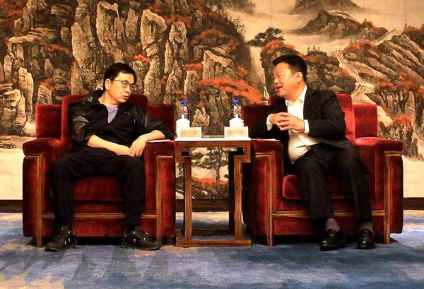 陈星、朱是西会见高瓴资本创始人张磊、建业集团董事长胡葆森