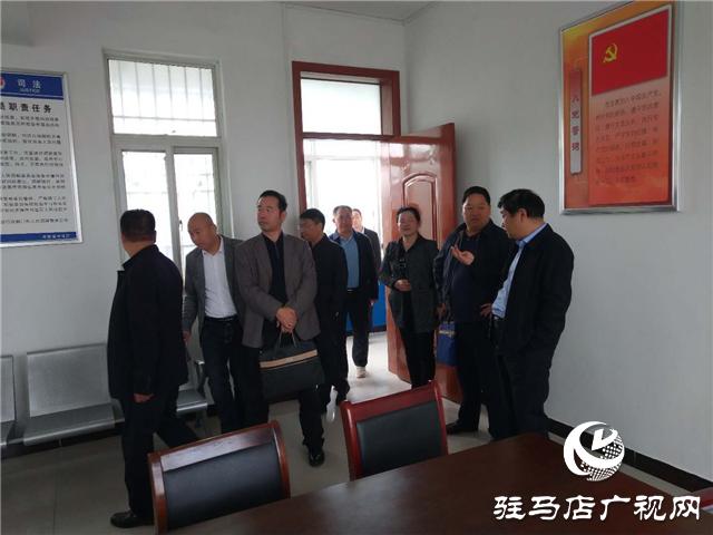 省司法厅调研组到上蔡县芦岗司法所指导验收五星级司法所创建工作
