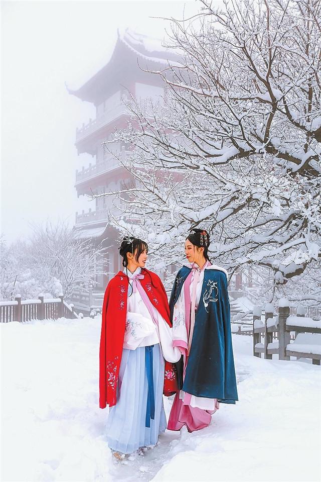 焦作云台山迎入冬以来的首场降雪