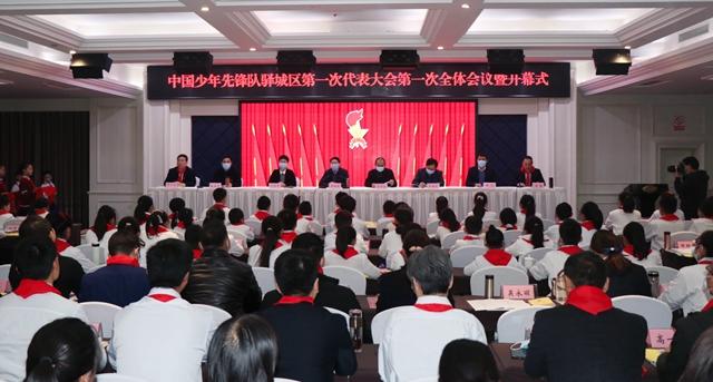 中国少年先锋队驿城区第一次代表大会胜利召开