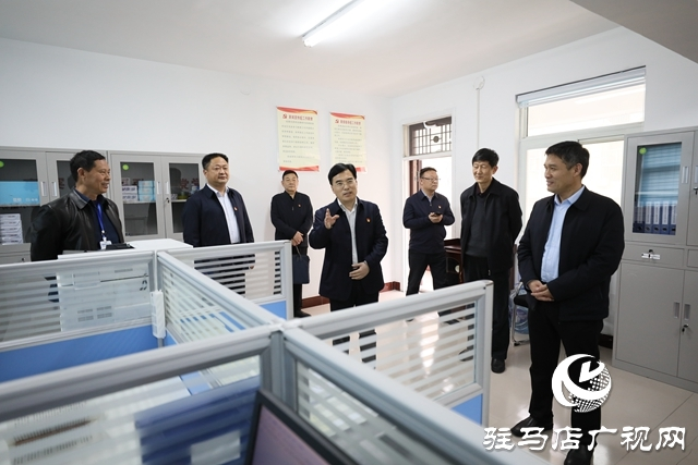 驿城区区委书记毕启民调研指导党史学习教育开展情况