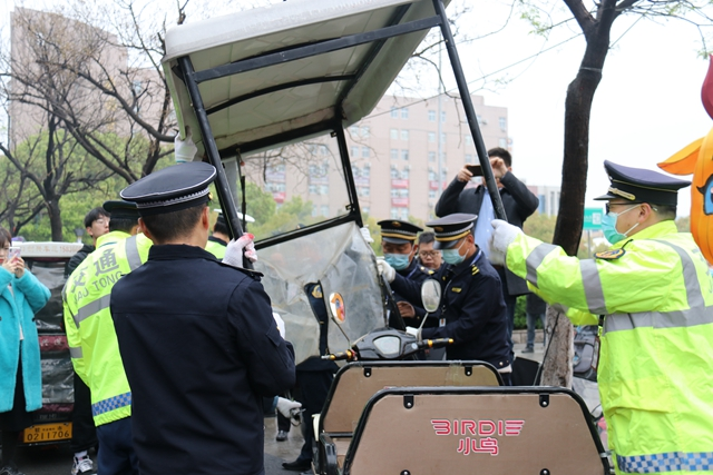 驻马店市中心城区电动车整治第一天,有人被罚!