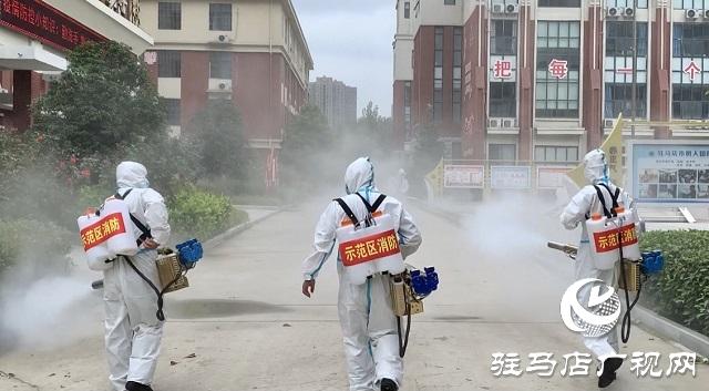 驻马店市城乡一体化示范区消防救援大队走进校园进行防疫消杀工作