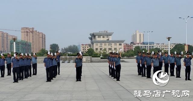 正阳县交通运输执法局开展军训会操评比活动