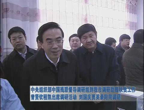 中央组织部中国残联督导调研组到我市调研助残扶贫工作