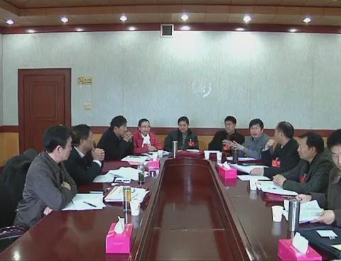 市政协三届三次会议举行分组讨论