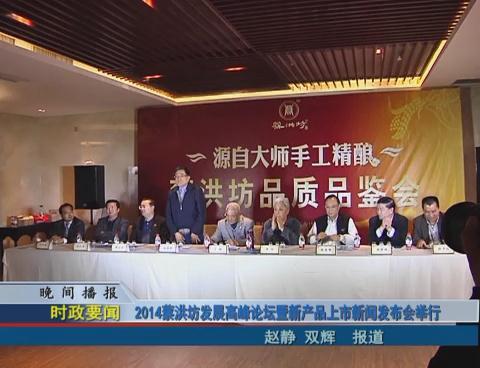2014蔡洪坊发展高峰论坛暨新产品上市新闻发布会举行