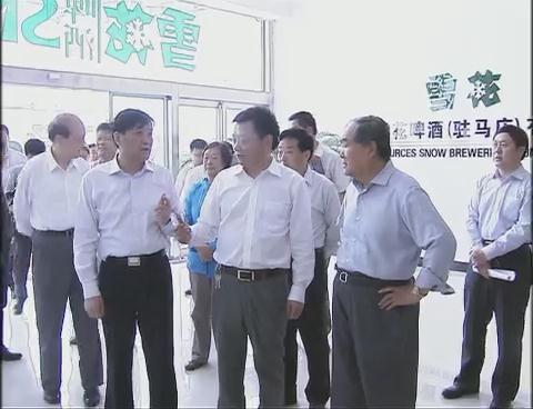 中国食品工业协会会长石秀诗一行来我市调研