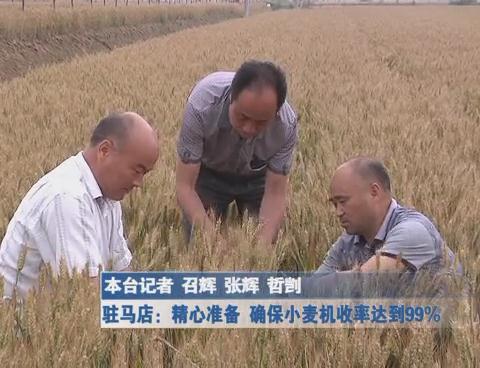 精心准备 确保小麦机收率达到99%