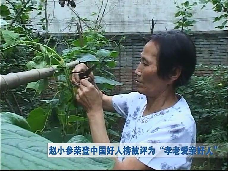 """赵小参荣登中国好人榜被评为""""孝老爱亲好人"""""""