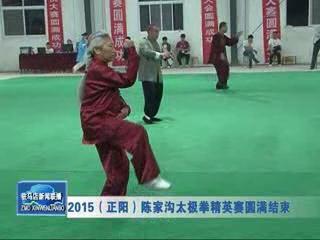 2015(正阳)陈家沟太极拳精英赛圆梦结束