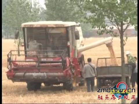 遂平:三夏时节大型农机唱主角
