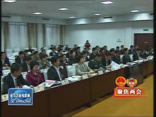 驻马店市三届人大六次会议主席台举行第二次会议(视频)