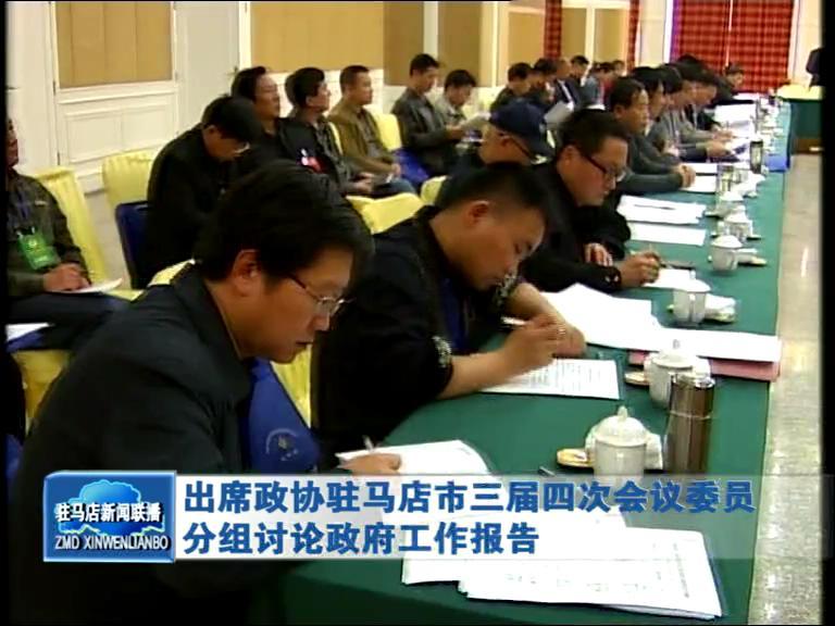 出席政协驻马店市三届四次会议委员分组讨论政府工作报告(视频)